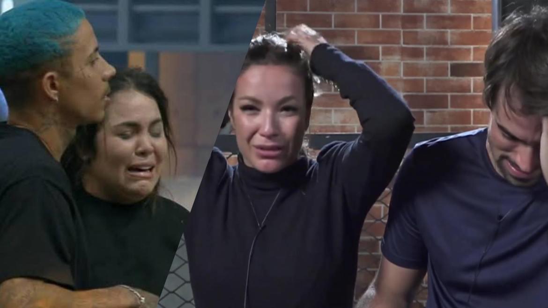 Esposas do Power Couple entraram em desespero com a chuva de baratas (montagem: Fashion Bubbles)