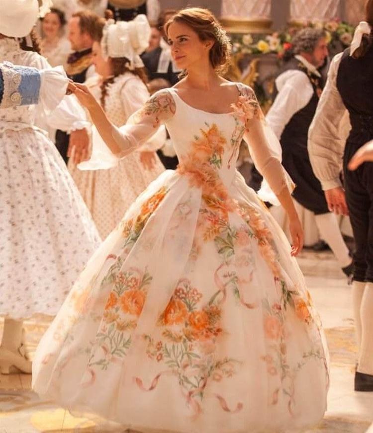 Vestido usado por Emma Watson em 'A Bela e a Fera', 2017.