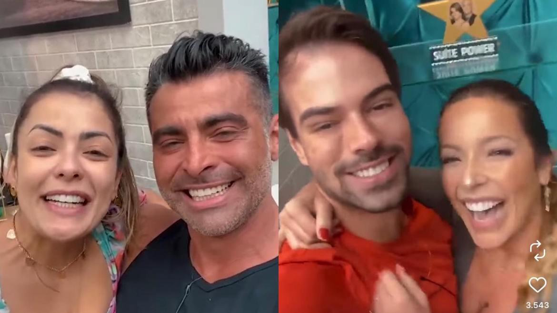 Li Martins e JP e Renata e Leandro são mais discretos no reality. Vote na Enquete Power Couple (montagem: Fashion Bubbles)