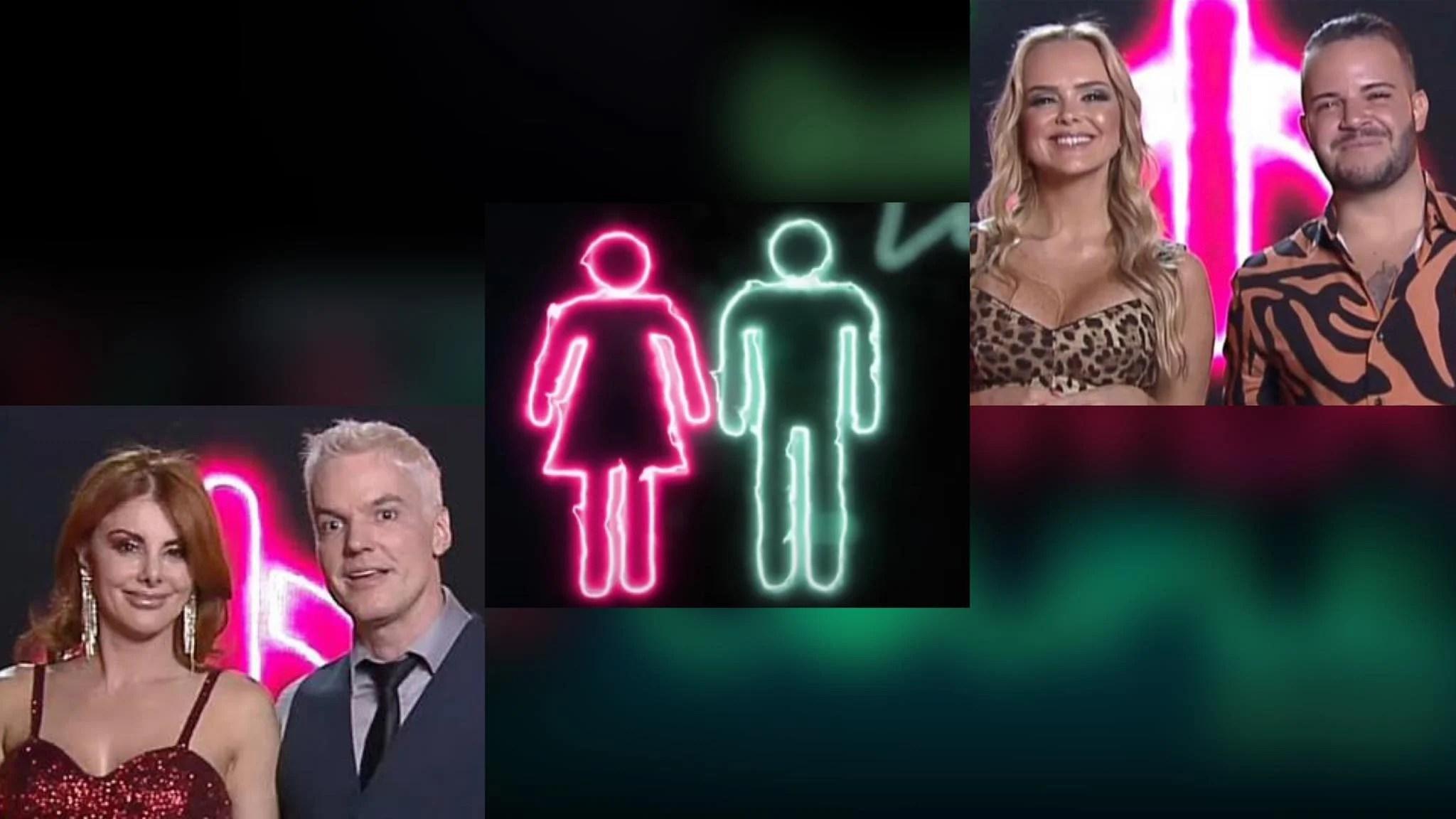 "Enquete Power Couple: que casal deve ""acompanhar"" Nina & Filipe, assim como Deborah & Bruno na 8ª DR do Power Couple? (montagem: Fashion Bubbles)"