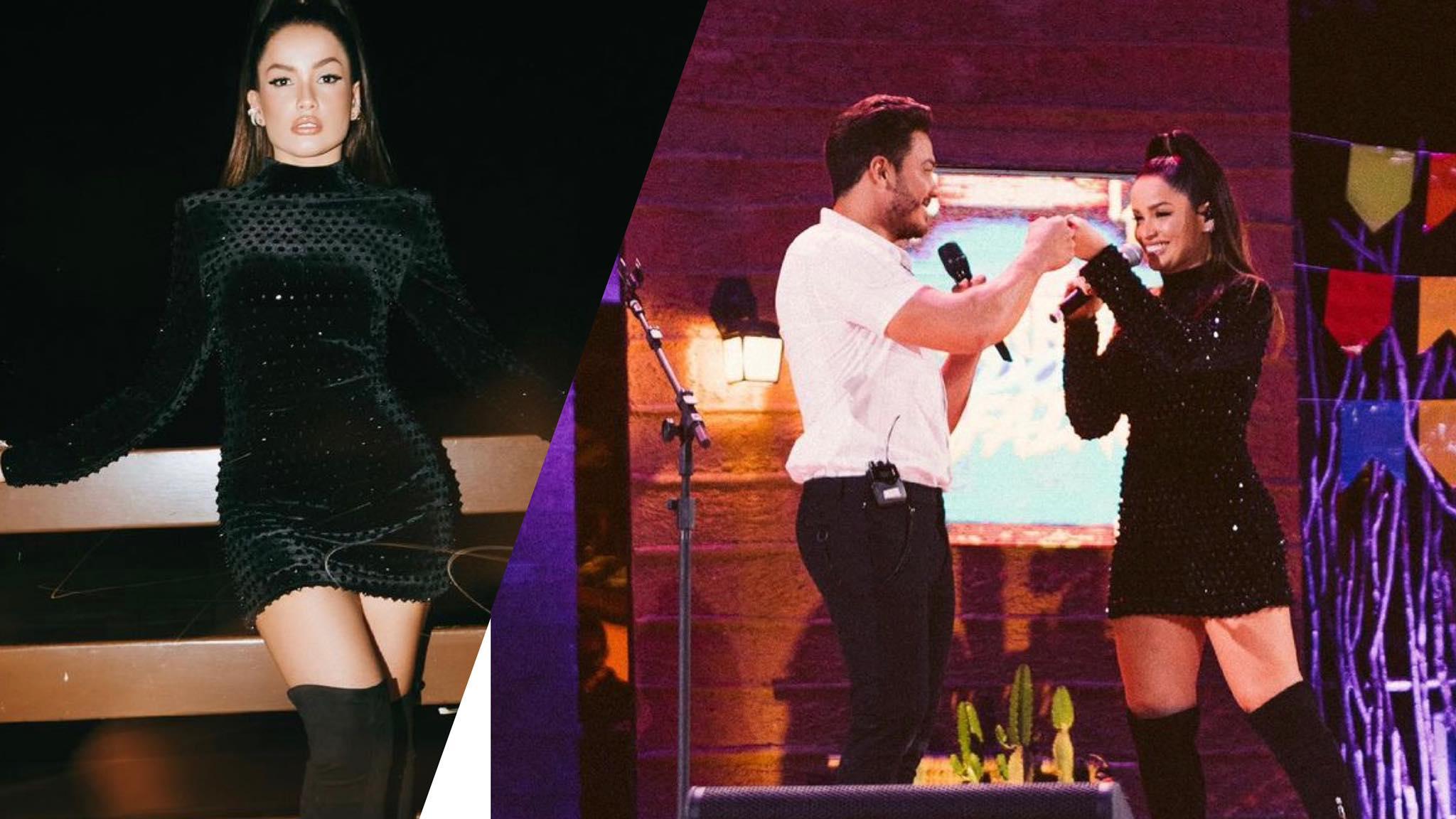 Juliette Freire arrasa cantando sua música tema do BBB 21 junto com Wesley Safadão (montagem: Fashion Bubbles)