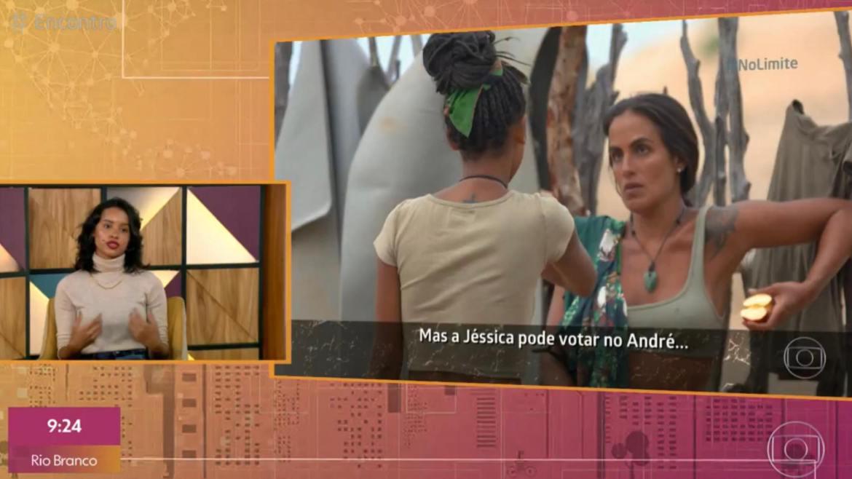 A eliminada diz que Carol Peixinho é estrategista (imagem: reprodução/ Globo)