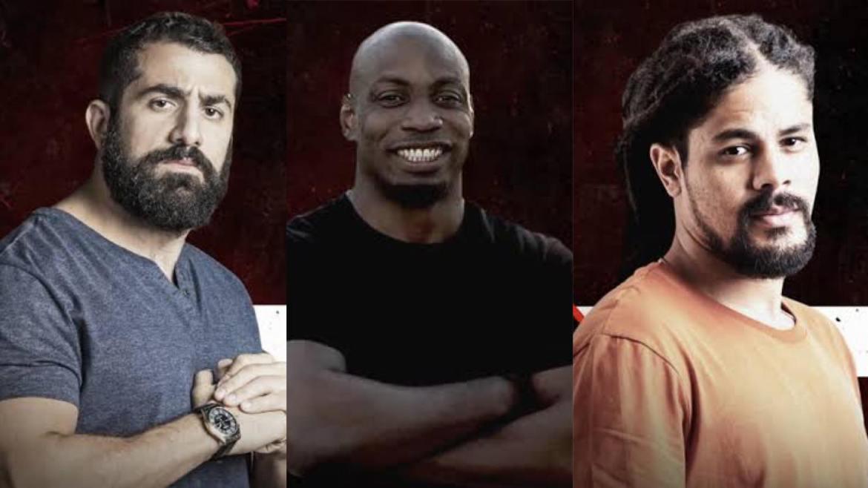 Kaysar, Zulu e Viegas são os finalistas de No Limite (montagem: Fashion Bubbles)