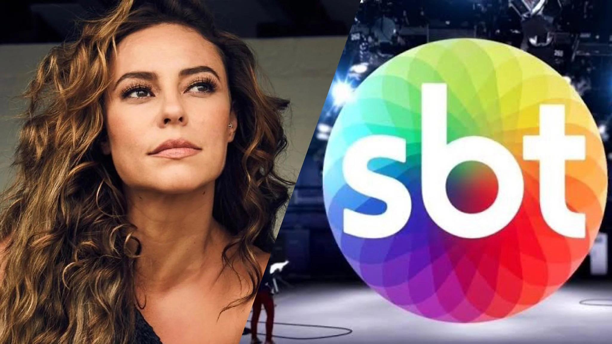 Paolla Oliveira causa alvoroço ao surgir na tela do SBT (montagem: Fashion Bubbles)