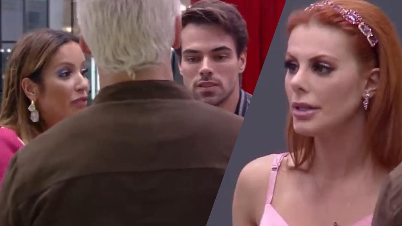 Leandro e Renata tentam conversar com Bruno e Deborah no Power Couple (montagem: Fashion Bubbles)