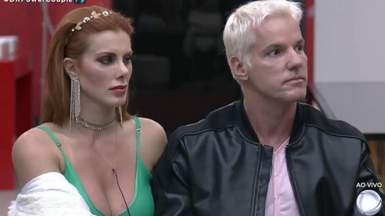 Deborah e Bruno perderam todas as provas do sexto ciclo do Power Couple (imagem: reprodução Record TV)