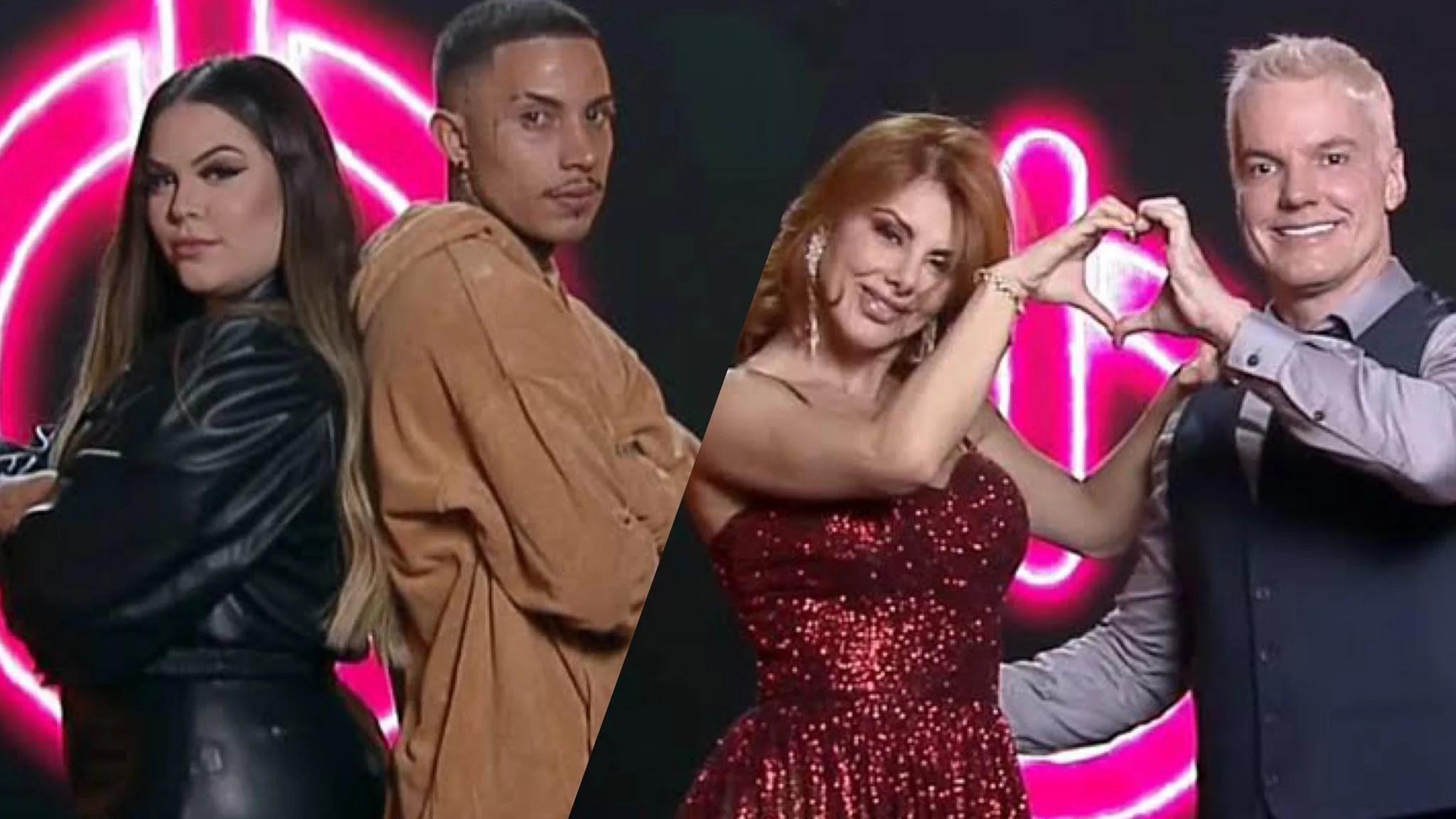 Mari e Matheus acusam Bruno e Deborah de roubarem na Prova das Mulheres (montagem: Fashion Bubbles)