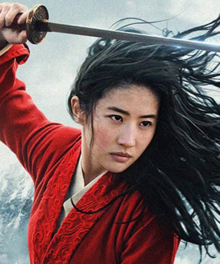 Foto de Liu Yifei como Mulan.