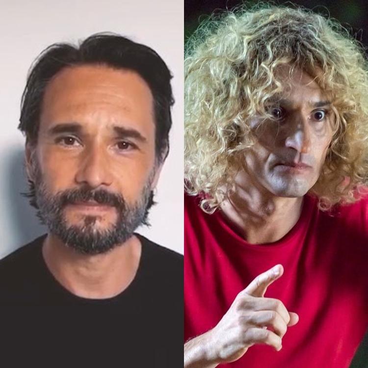 Montagem de Rodrigo Santoro no dia dia vs Louco, personagem do filme Turma da Mônica - Laços.