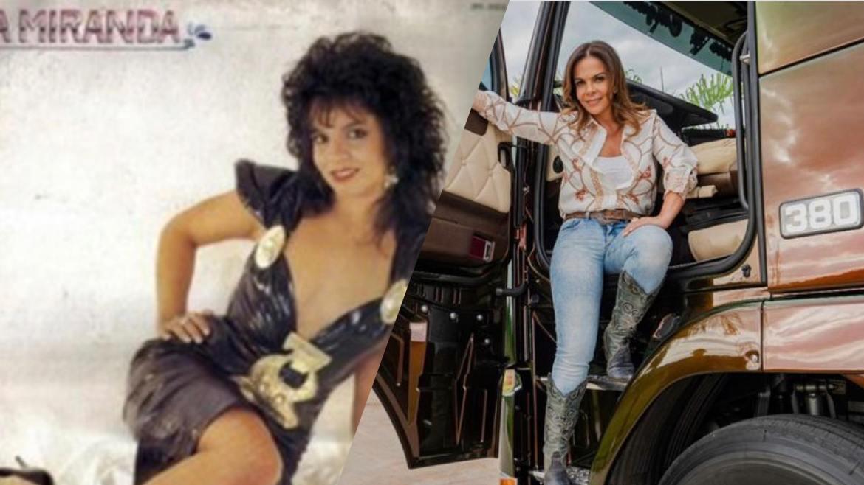 Sula Miranda foi a Rainha dos Caminhoneiros entre as décadas de 80 e 90 (montagem: Fashion Bubbles)