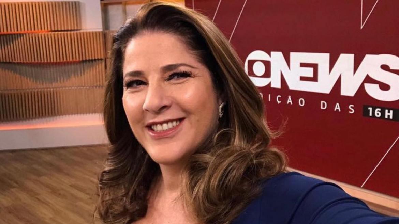 Christiane Pelajo apresenta o Jornal GloboNews edição 16h (imagem/ Instagram)