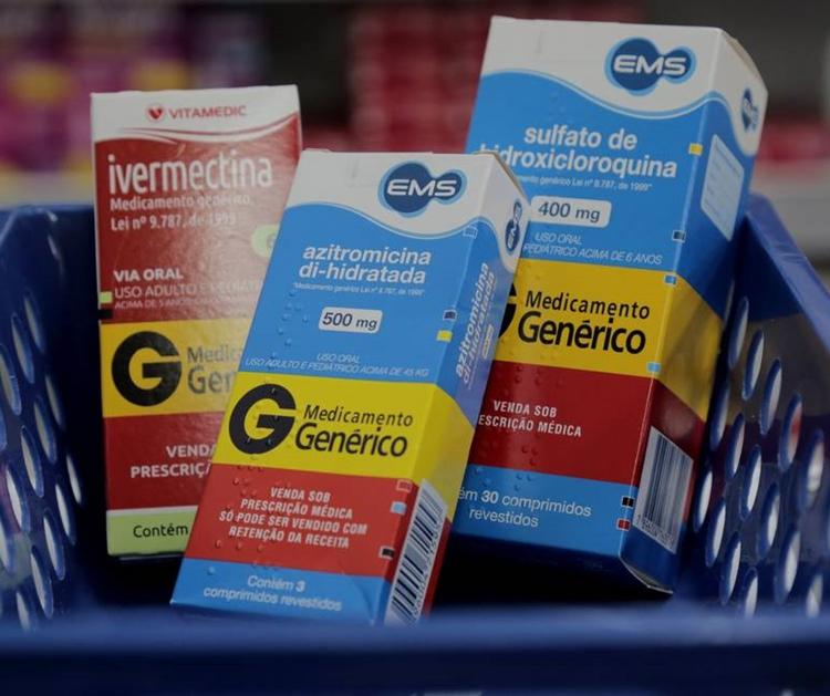 Remédios listados no 'tratamento precoce' contra a Covid-19 sem eficácia.