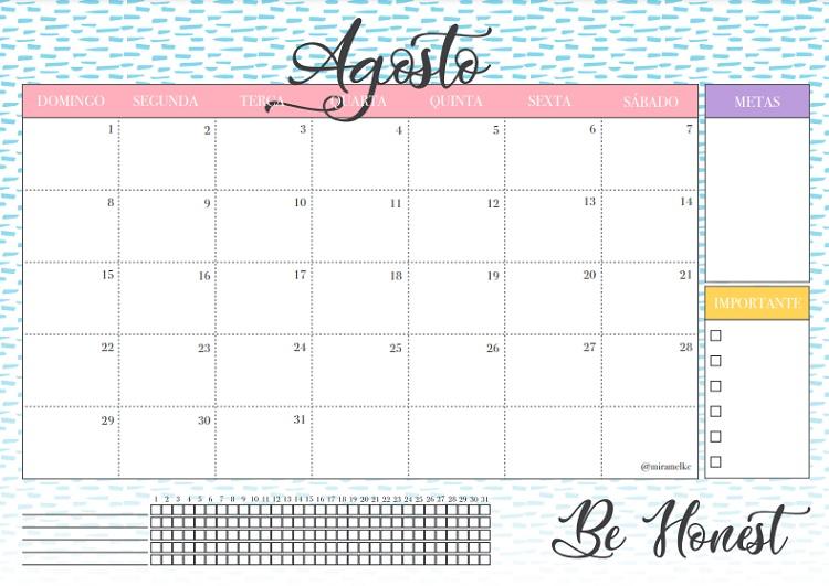 calendário de agosto de 2021 para download