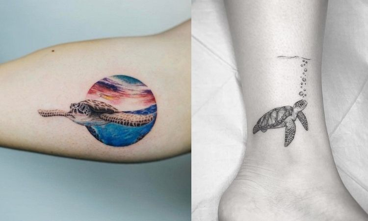 tatuagem de tartaruga marinha