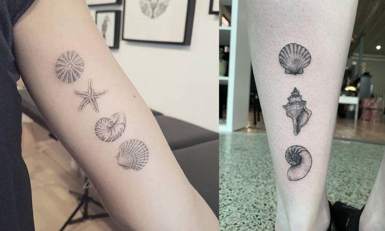 duas opções de tatuagem marinha