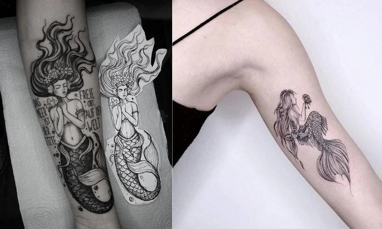 duas tatuagens de sereia