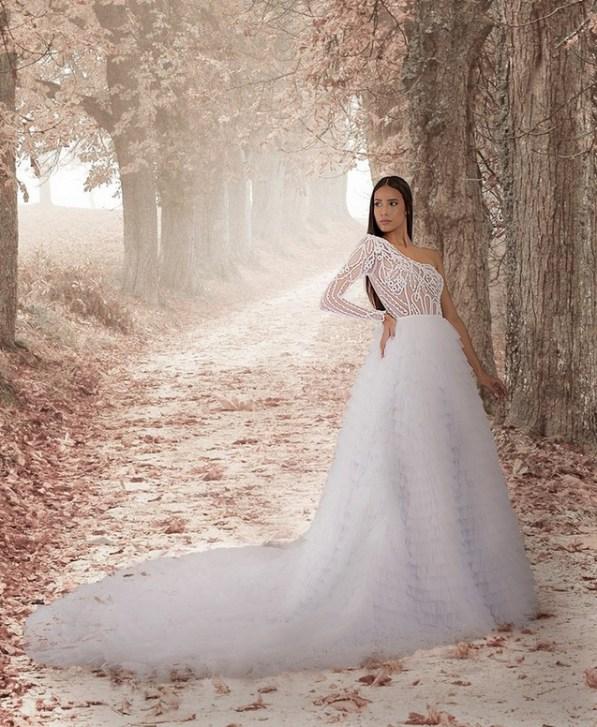 vestido de noiva com renda artesanal do Ceará Ivanildo Nunes