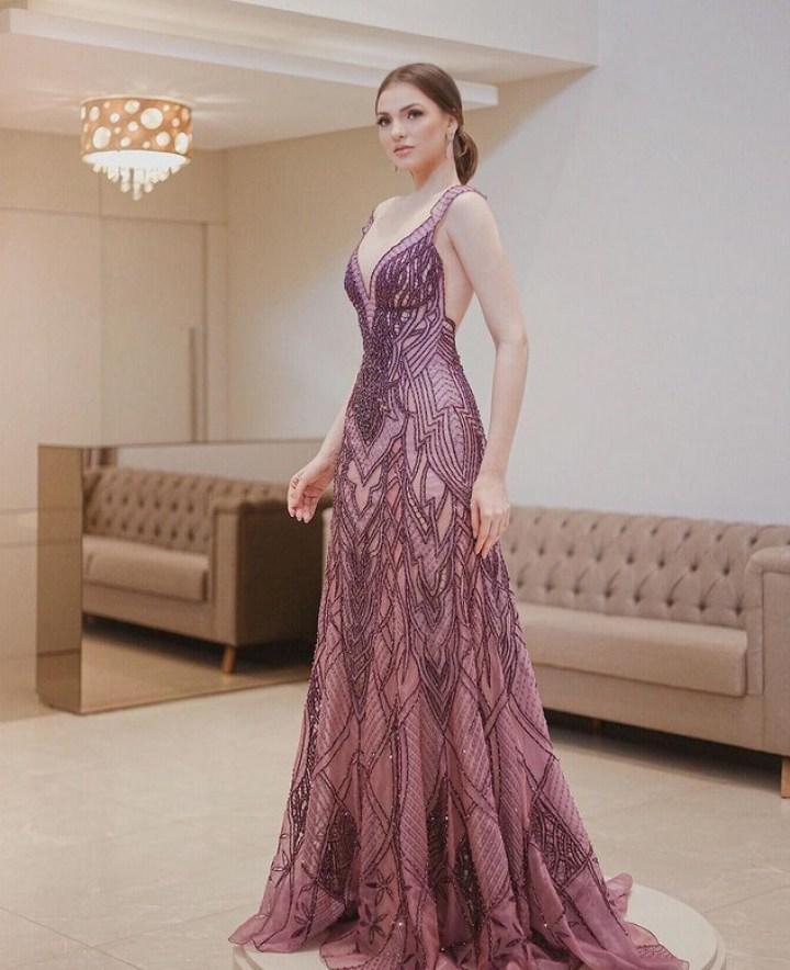 vestido de festa artesanal Ivanildo Nunes