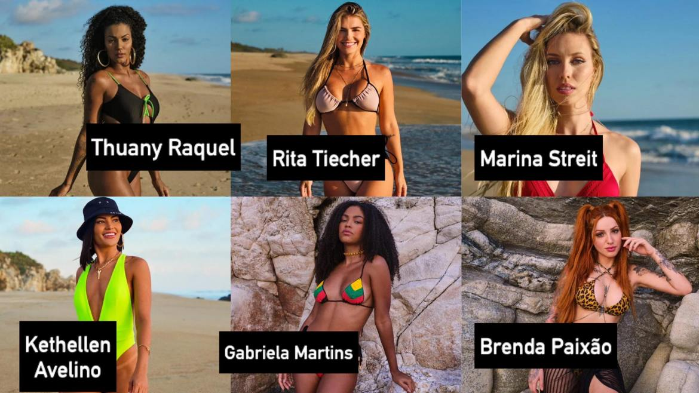Elenco feminino do Brincando com Fogo Brasil da Netflix. Fonte: Divulgação