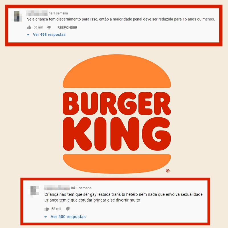 Montagem com os dois comentários citados.
