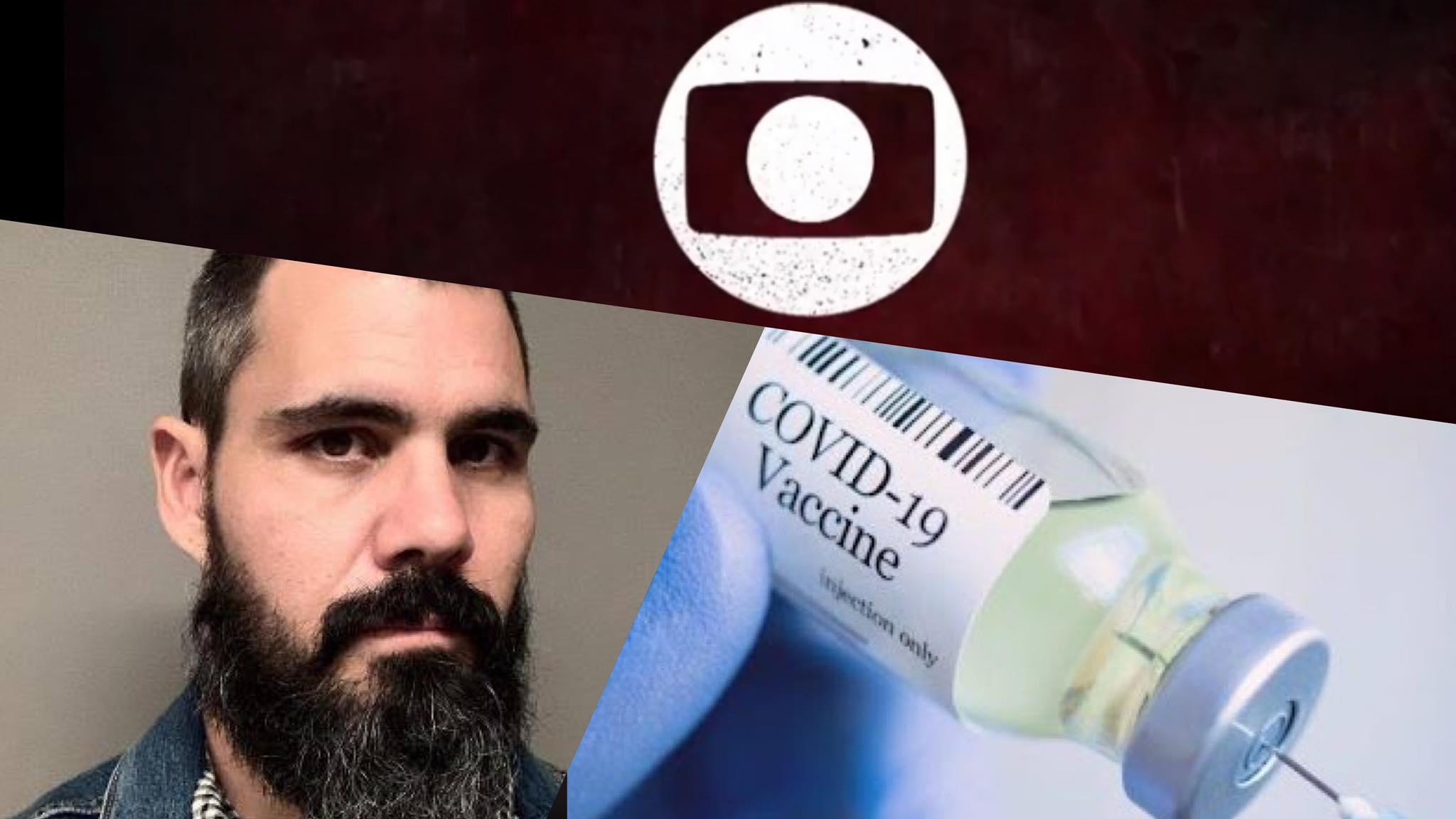 Enquete Fashion Bubbles quer saber se Juliano Cazarré deve ser afastado do elenco de Pantanal, após criar polêmica em torno da vacina. Fonte: Montagem/ Fashion Bubbles