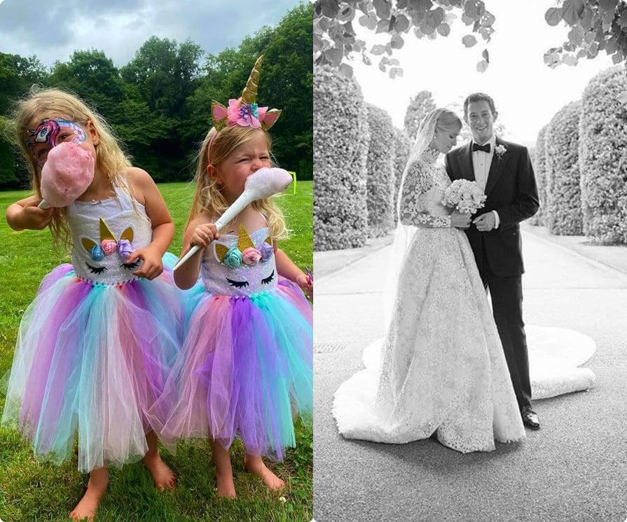 Foto das filhas e do casamento de Nicky.