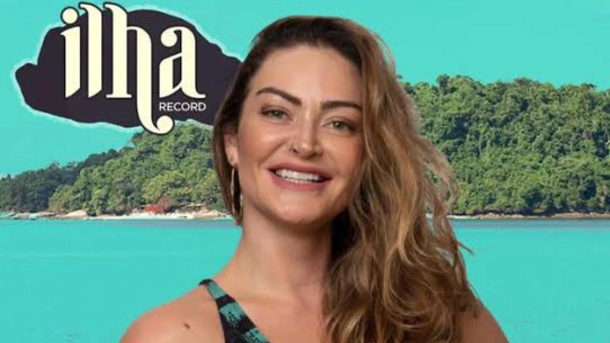 Laura Keller tem 34 anos, um filho já trabalhou na Globo e agora está no Ilha Record. Fonte: Divulgação