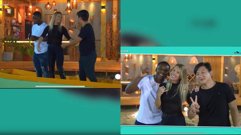 Antonela coloca Negão da BL e Pyong em sua final do Ilha Record. Fonte: Montagem/ Fashion Bubbles
