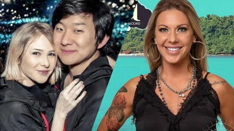 Ilha Record tem escândalo de suposta traição envolvendo Pyong Lee e Antonella (montagem: Fashion Bubbles)