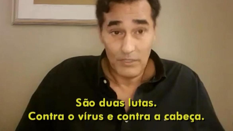 Luciano Szafir fala sobre o medo que passou enquanto esteve internado devido ao Covid-19. Fonte: Reprodução/Globo