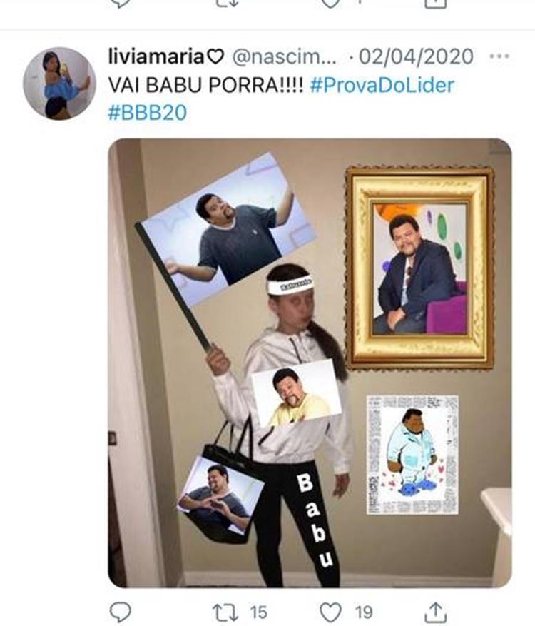 Print da publicação de Lívia Maria no Twitter.