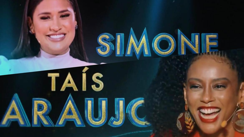 Simone e Taís Araujo já participaram de outros realities na Globo. Agora as duas estarão na bancada do Masked Singer Brasil. Fonte: Montagem/ Fashion Bubbles