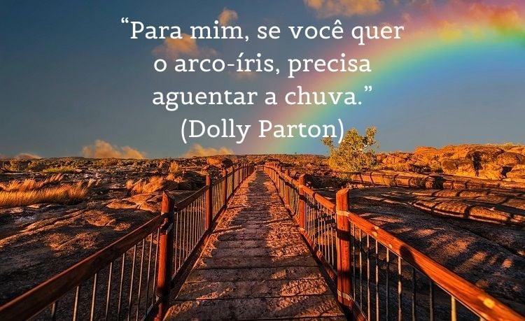frase de Dolly Parton sobre reflexão