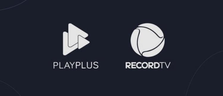 Foto do logo da Record TV e do playplus