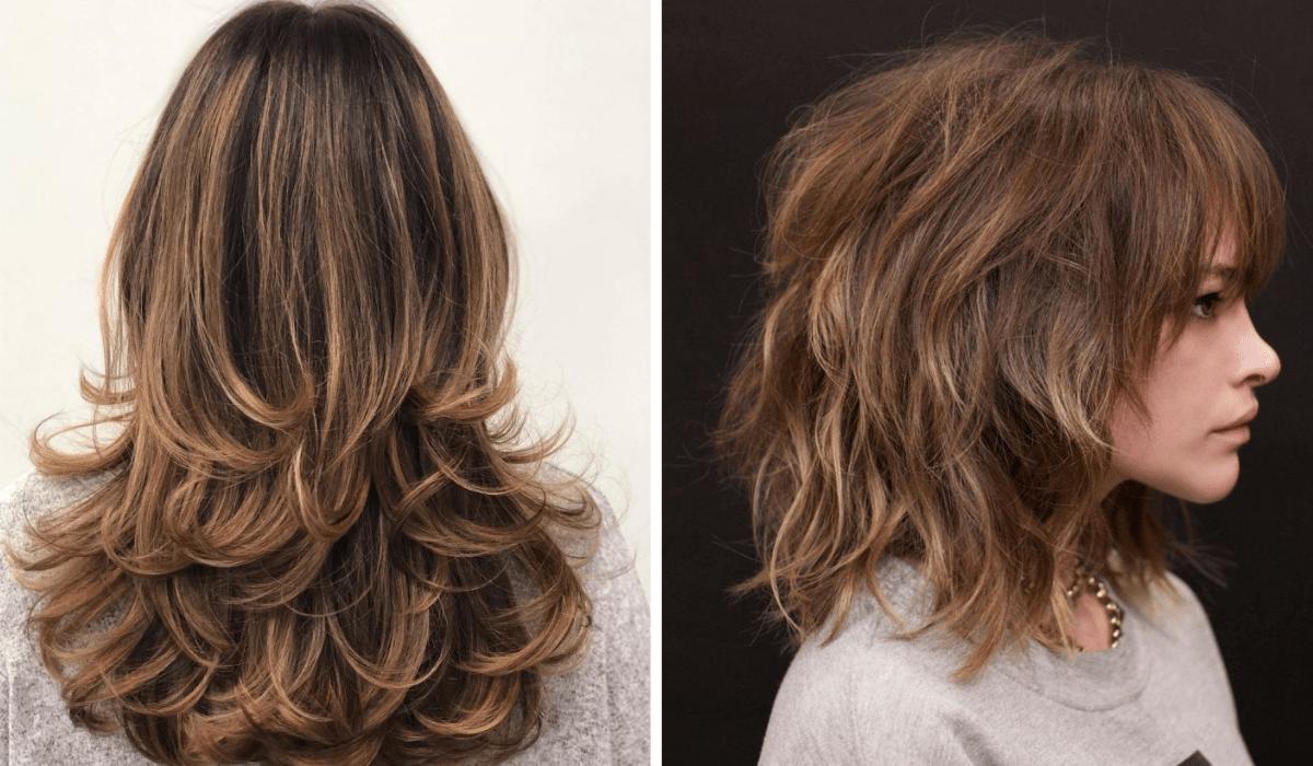 cabelo com corte em camadas