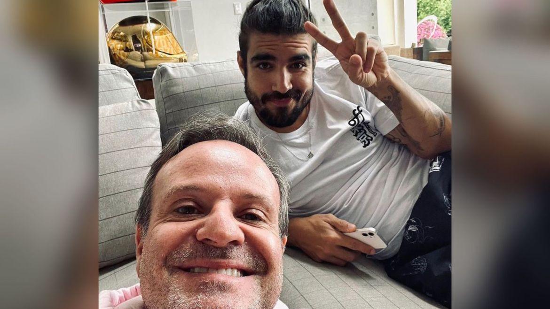 Caio Castro esteve com Rubens Barrichello no último final de semana. Fonte: Instagram