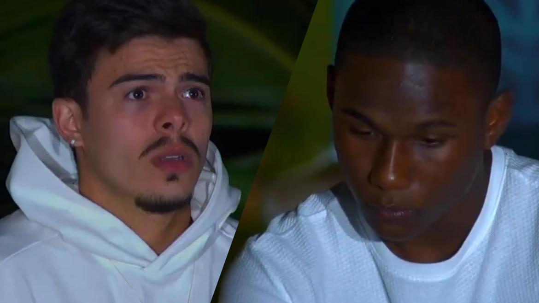 Thomaz Costa e Mc Negão da BL estão no Desafio da Área de Risco. Dessa forma, para quem você está torcendo? Vote em nossa Enquete Ilha Record. Fonte: Montagem/ Fashion Bubbles