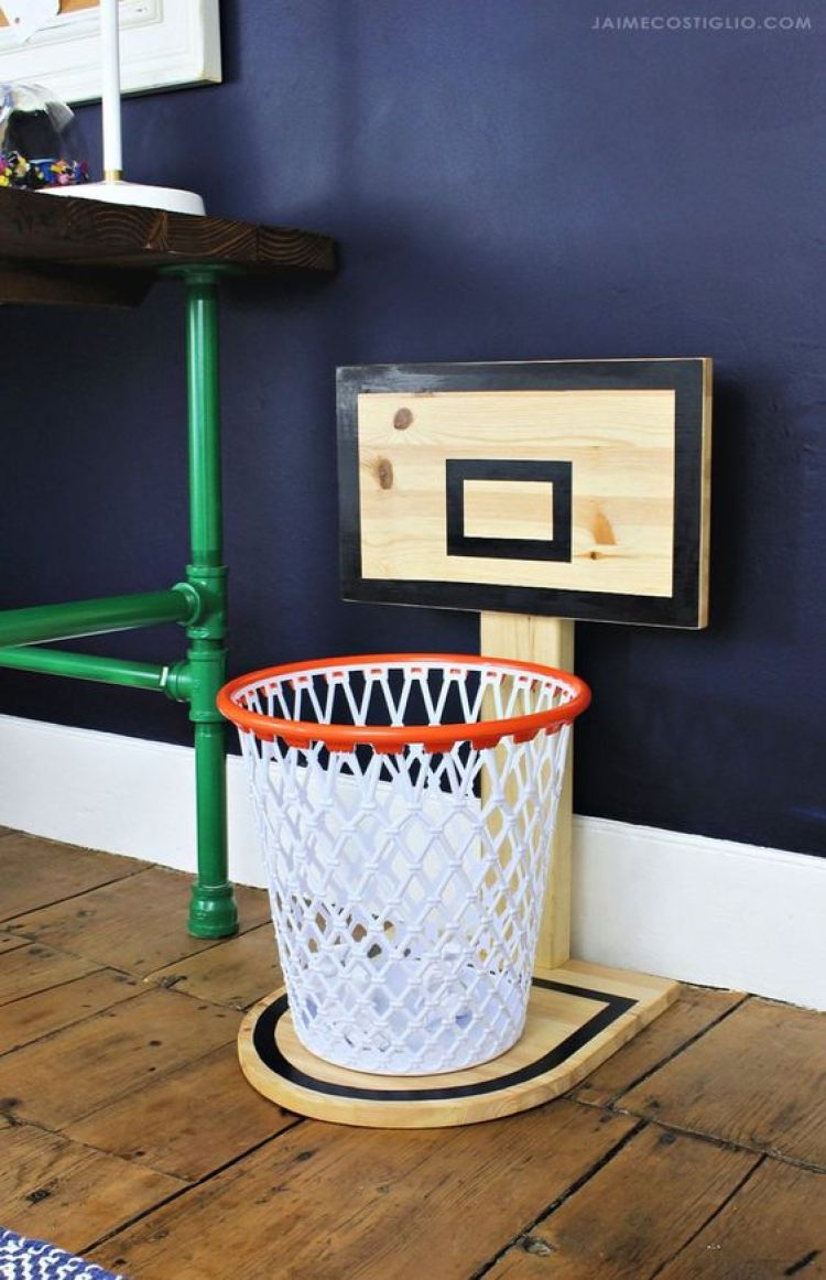 Esporte na decoração com tema basquete.