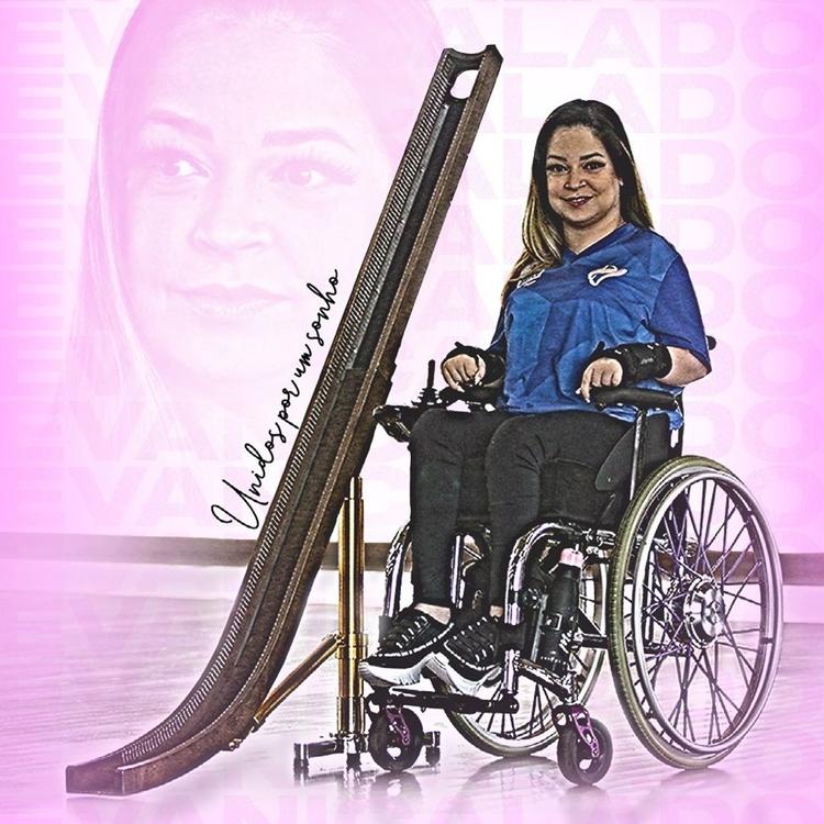 Foto de Evani Calado, atleta brasileira das Paralimpíadas Tóquio.