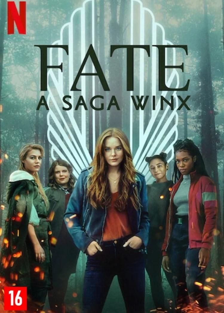 """Foto do cartaz da série """"Fate: A Saga Winx""""."""