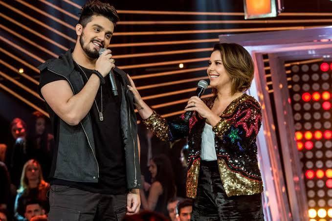 Fernanda em Luan no Só Toca Top da Globo. Fonte/ Reprodução