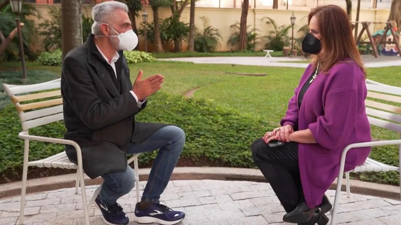Filho de Tarcísio Meira, Tarcisinho, dá entrevista ao Fantástico. Fonte: Reprodução/ Globo