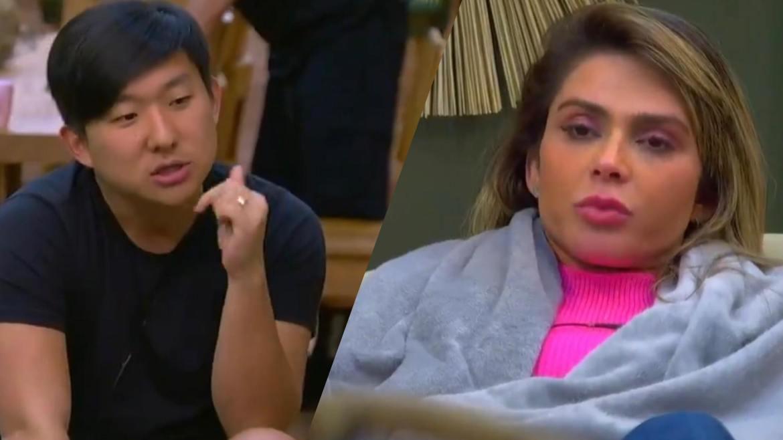 Pyong resolve dar um basta nas confusões criadas por Nadja Pessoa no Ilha Record. Fonte: Montagem/ Fashion Bubbles
