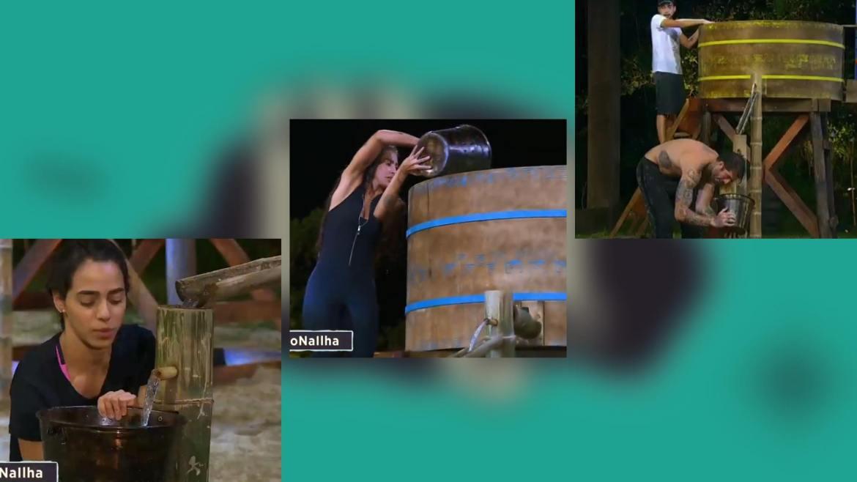 Any e Mirella resistiram mais na Prova de Sobrevivência e derrotaram as outras duplas. Fonte: Montagem/Fashion Bubbles