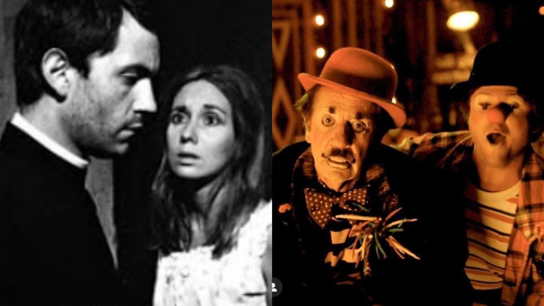 Paulo José no cinema nos filmes O Padre e a Moça (dir- Joaquim Pedro, 1966) e em O Palhaço (dir- Selton Mello, 2011). Fonte: Montagem: Fashion Bubbles