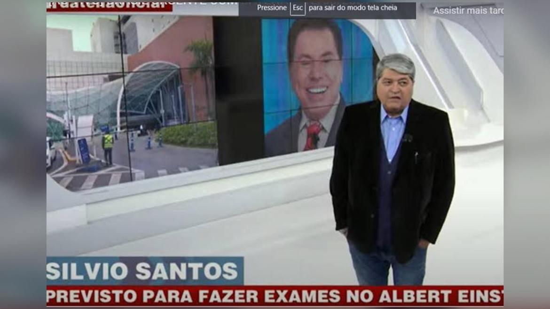 Datena informa no Brasil Urgente que Silvio Santos está com Covid-19. Fonte: Reproduçã