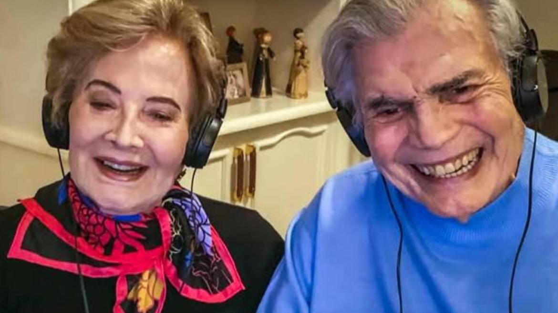 Tarcísio Meira e Glória Menezes saíram da Globo em 2020. Fonte: Reprodução