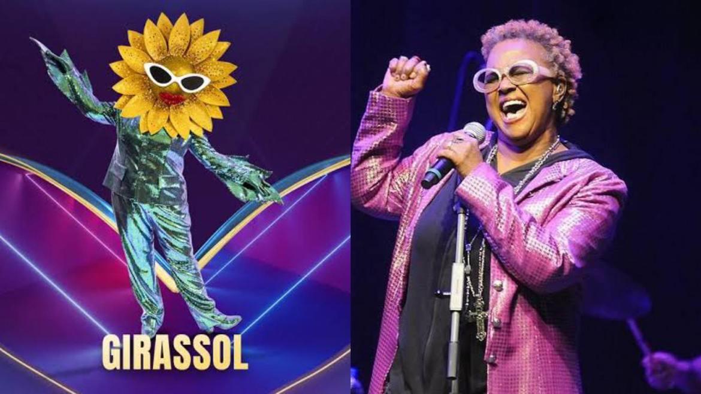 Internautas apontam que Sandra de Sá seja o Girassol do The Masked Singer Brasil da Globo. Fonte: Montagem/ Fashion Bubbles