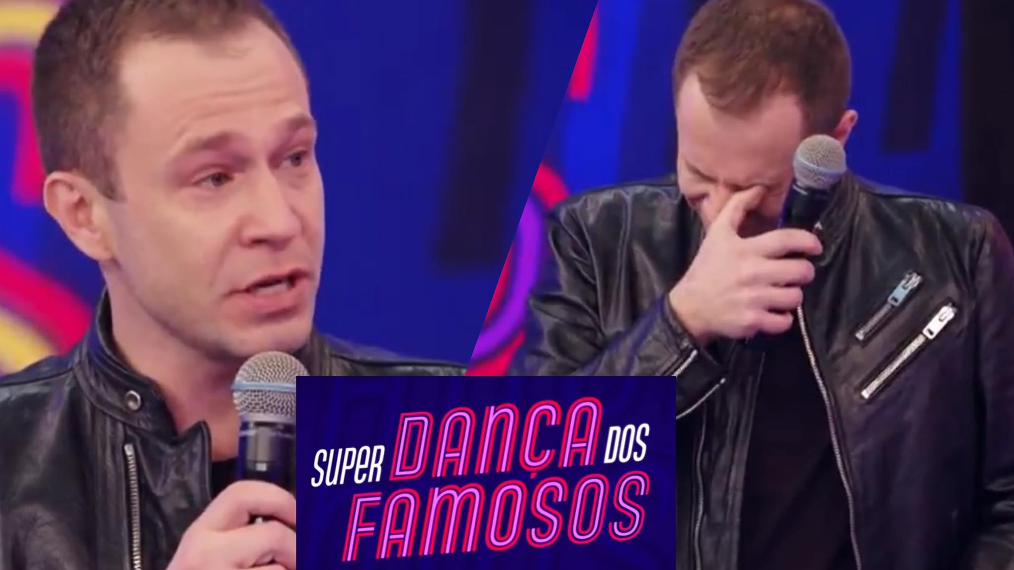 Tiago Leifert vai às lágrimas ao se despedir do Super Dança dos Famosos. Fonte: Montagem/Fashion Bubbles