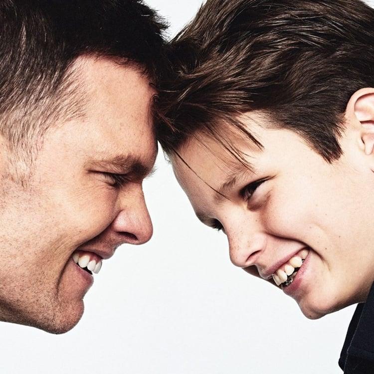Foto de Tom Brady e Jake.